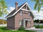 Проект одноэтажного жилого дома с мансардой и террасой